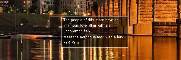 The people of this state have an infamous love affair with an uncommon fish. Meet the notorious food with a long half-life.