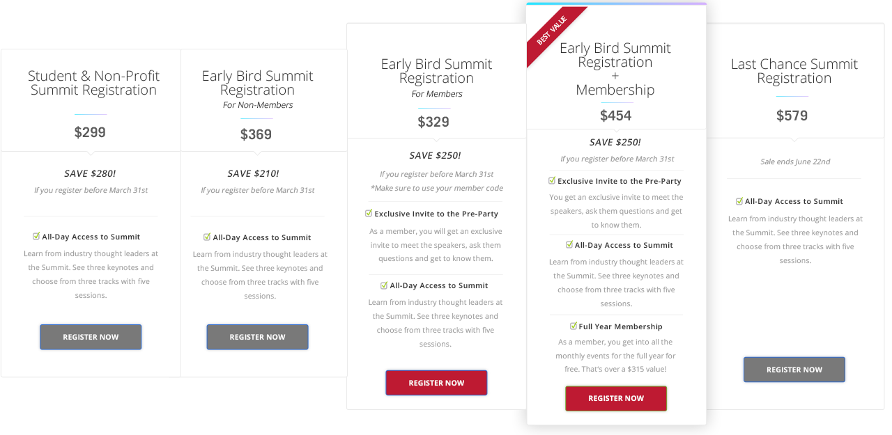 Early Birth MnSearch Summit 2018 Pricing