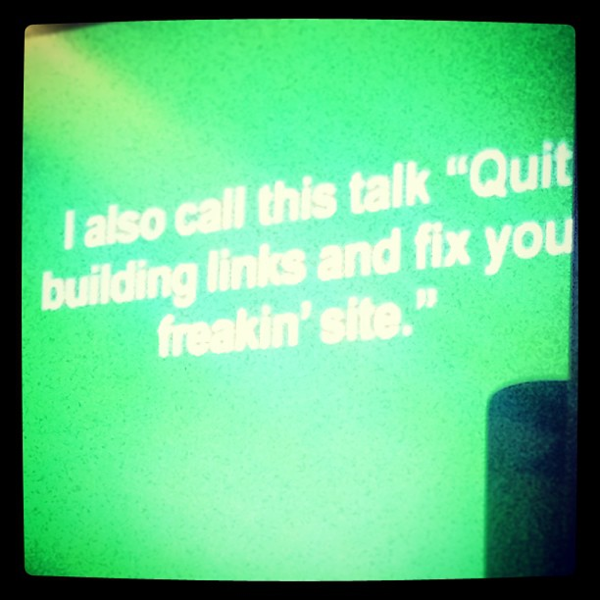 Quit Building Links