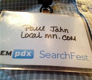 Paul Jahn SearchFest Badge